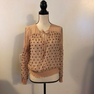 Free people small blouse sheer